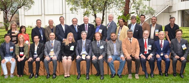 Dr. Boden (Third from left - back row) poses with the 2015 members of the Global Council Of Hair Restoration Surgery Societies in Kuala Lumpur, Malaysia